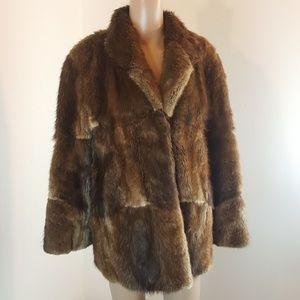 Jackets & Blazers - Long Haired Beaver Jacket Women's Brown Blonde